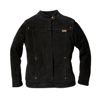 Women's Suede Bessie Casual Jacket, Black