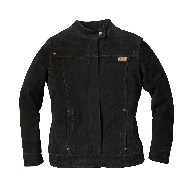 Women's Suede Bessie Casual Jacket, Black