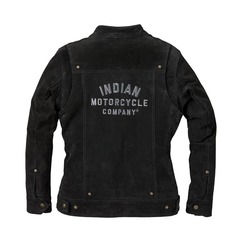 miniature 8 - Indian Motorcycle Women's Suede Bessie Casual Jacket, Black