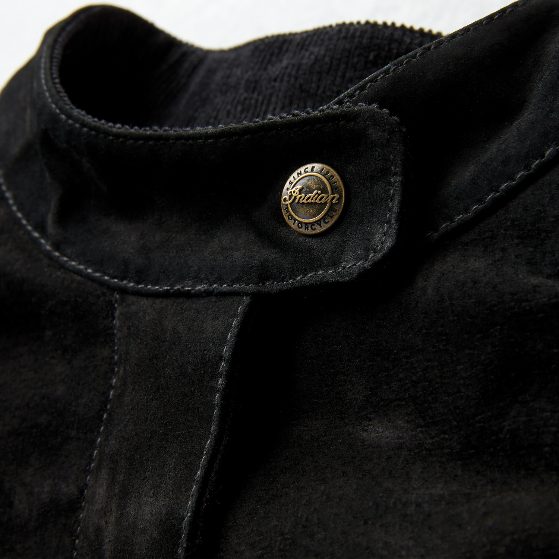 miniature 9 - Indian Motorcycle Women's Suede Bessie Casual Jacket, Black