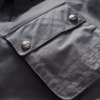 Men's Waxed Cotton Sacramento Riding Jacket with Removable Lining, Black - Image 5 of 7