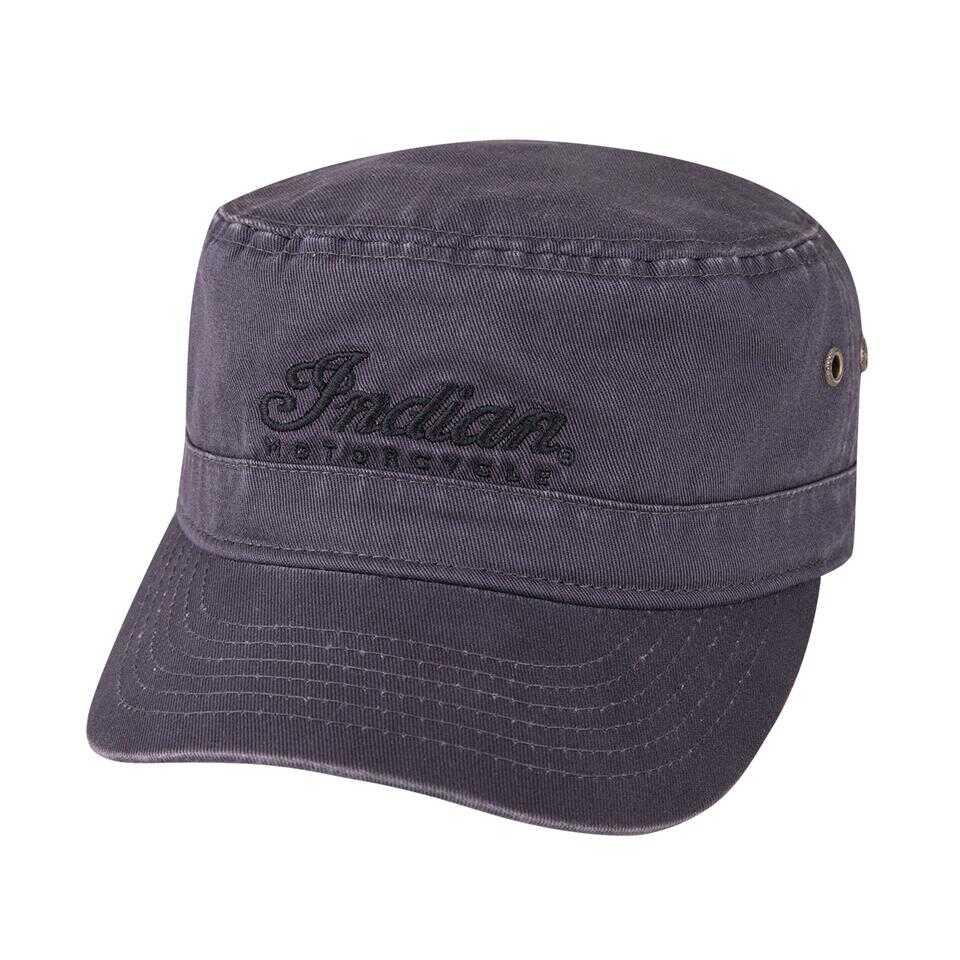 Army Hat with Script Logo, Gray