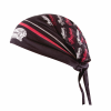 Headdress Head Tie, Red/Black - Image 1 of 1
