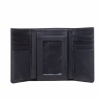Leather Tri-Fold Wallet with Embossed Logo, Black - Image 2 of 5