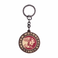 Rubber Keychain with Round Headdress Logo, Multi