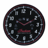 Round Wall Clock with Modern Speedometer Design, Black - Image 1 of 1