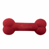 Rubber Bone-Shaped Chew Toy, Red - Image 1 of 1