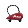Rubber Motorcycle Tank-Shaped Pull Toy, Red - Image 1 of 1
