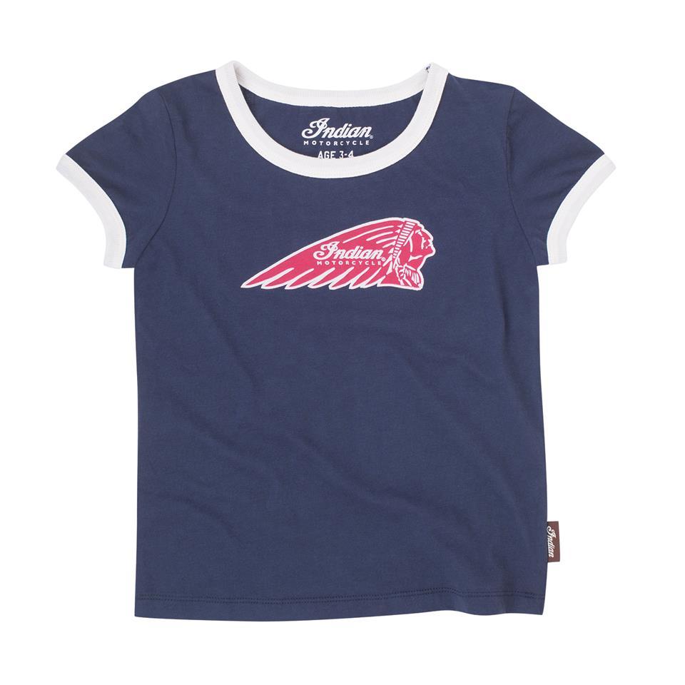 Toddler/Kids Logo T-Shirts, 2 Pack, Navy/White