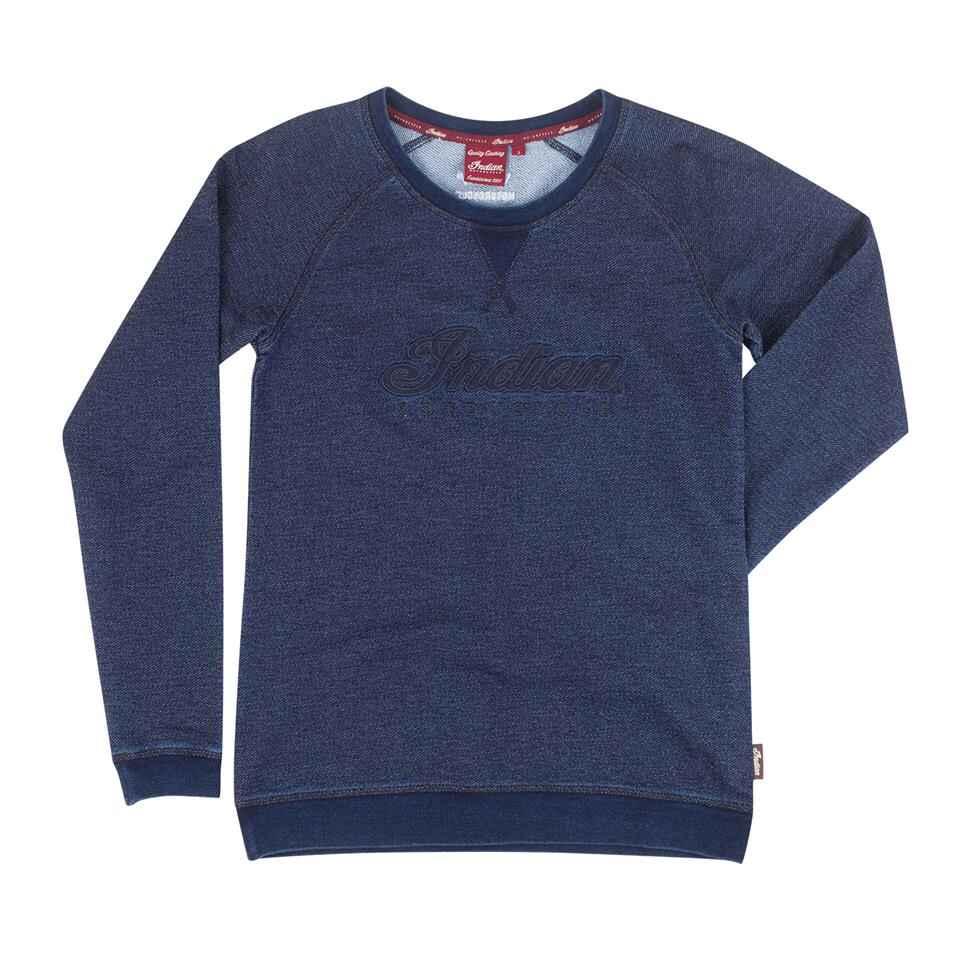 Women's Script Logo Pullover Sweatshirt, Navy