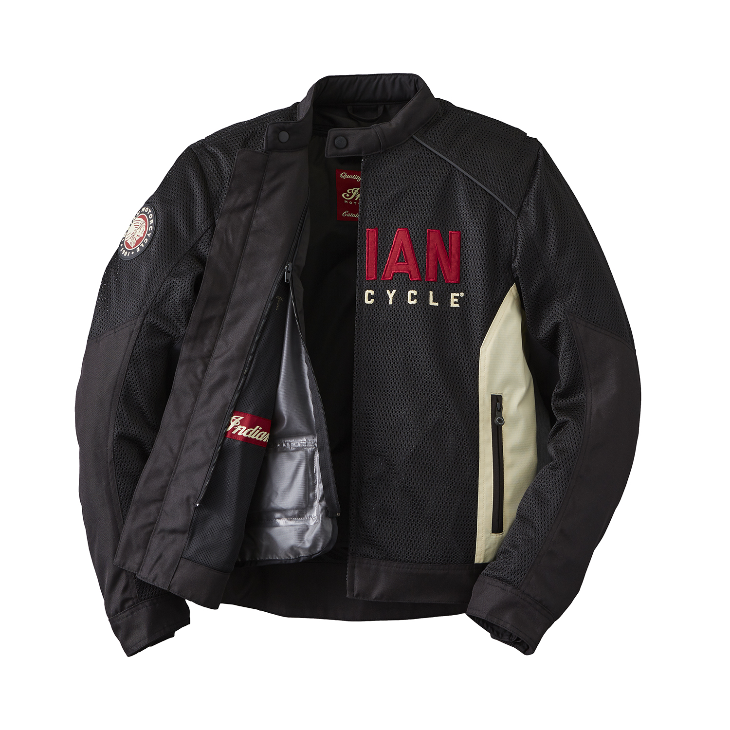 miniature 14 - Indian Motorcycle Men's Mesh Lightweight 2 Riding Jacket with Removable Liner