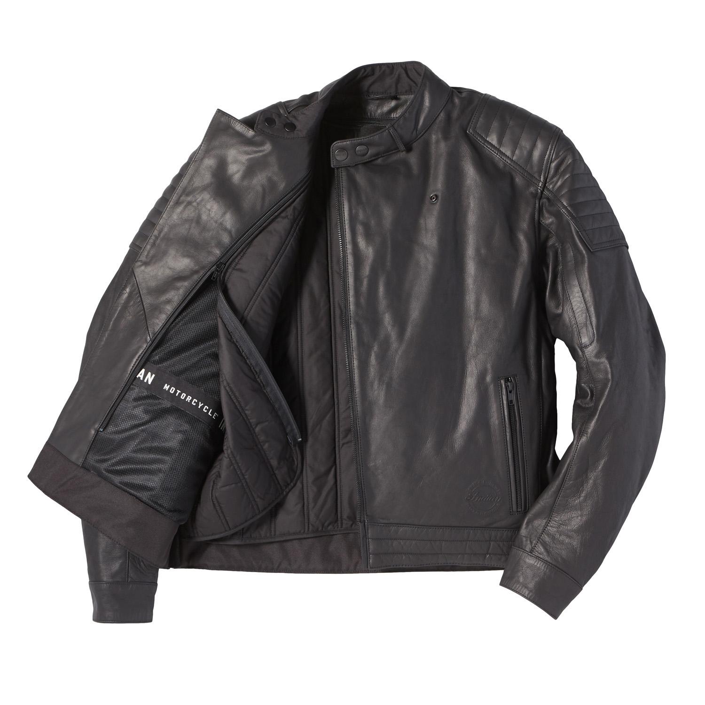 miniature 22 - Indian Motorcycle Men's Leather Denton Jacket, Black