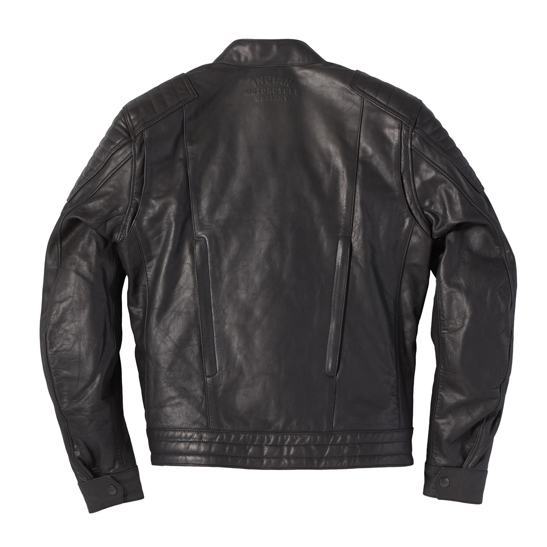 miniature 14 - Indian Motorcycle Men's Leather Denton Jacket, Black