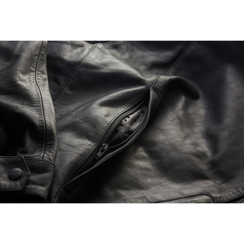 miniature 21 - Indian Motorcycle Men's Leather Denton Jacket, Black