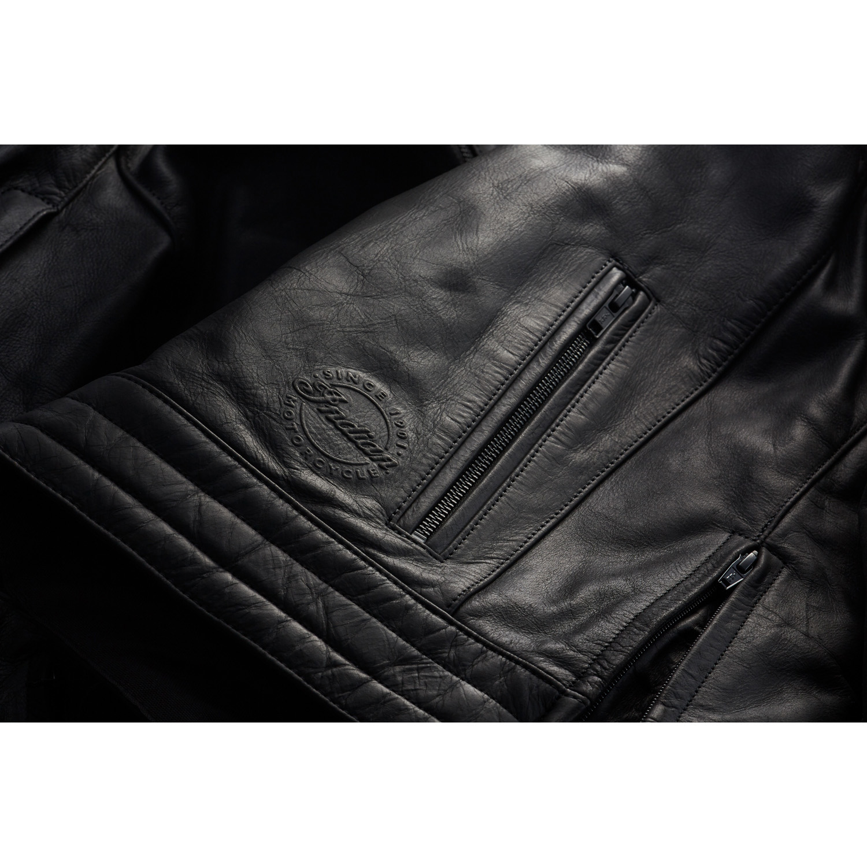 miniature 23 - Indian Motorcycle Men's Leather Denton Jacket, Black