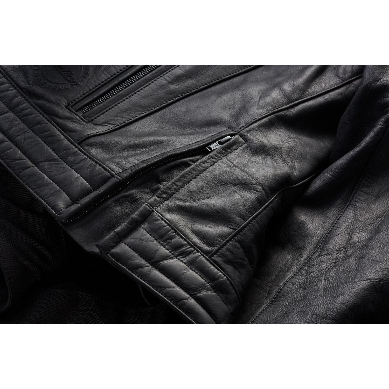 miniature 16 - Indian Motorcycle Men's Leather Denton Jacket, Black