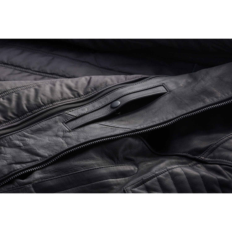 miniature 19 - Indian Motorcycle Men's Leather Denton Jacket, Black