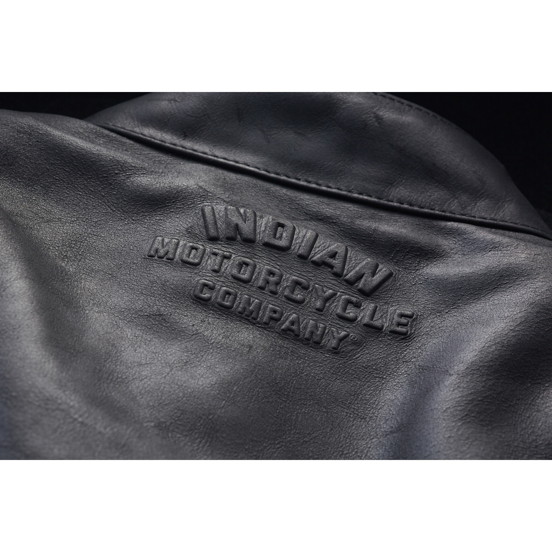 miniature 20 - Indian Motorcycle Men's Leather Denton Jacket, Black