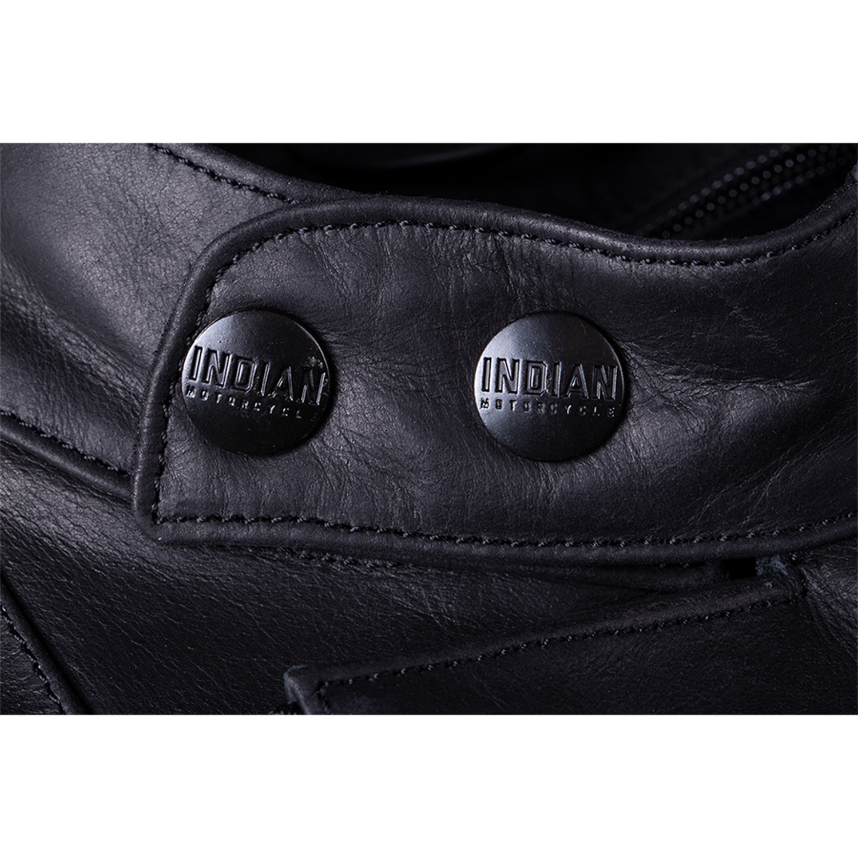 miniature 18 - Indian Motorcycle Men's Leather Denton Jacket, Black