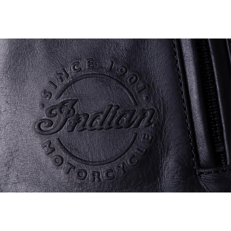 miniature 15 - Indian Motorcycle Men's Leather Denton Jacket, Black