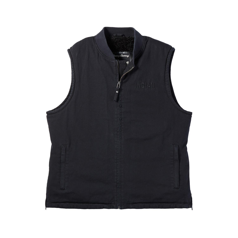 miniature 11 - Indian Motorcycle Men's Textile Hudson Vest, Black