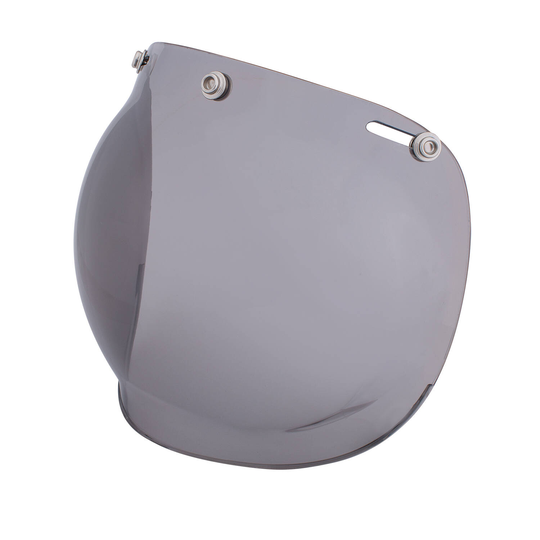 Open Face Retro Helmet Bubble Visor, Gray