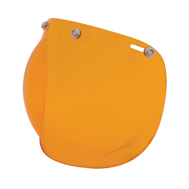 Open Face Retro Helmet Bubble Visor, Orange