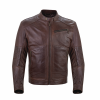 Men's Leather Phoenix Riding Jacket with Removable Lining, Brown - Image 1 of 6