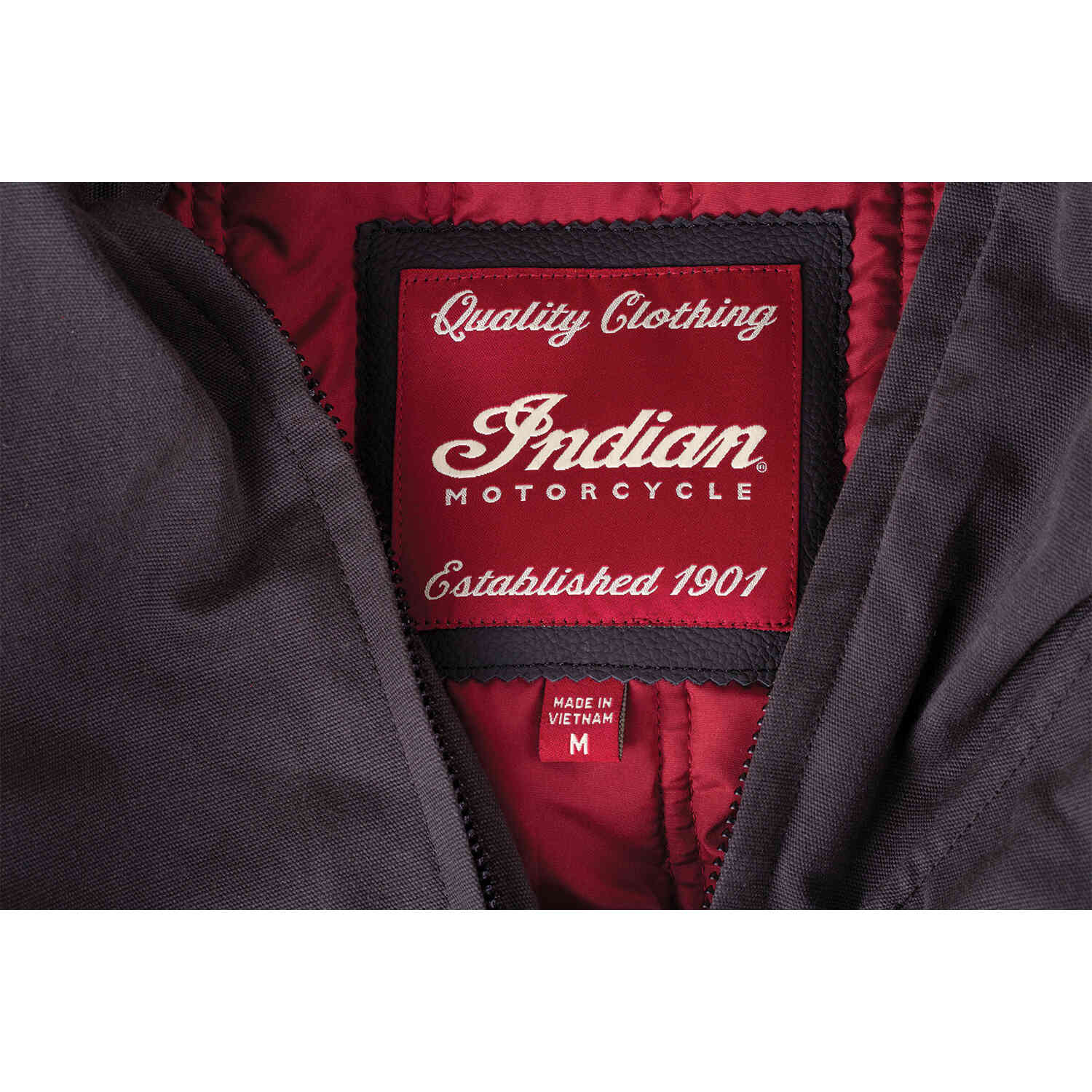 miniature 14 - Indian Motorcycle Men's Waxed Cotton Sacramento Riding Jacket with Removable