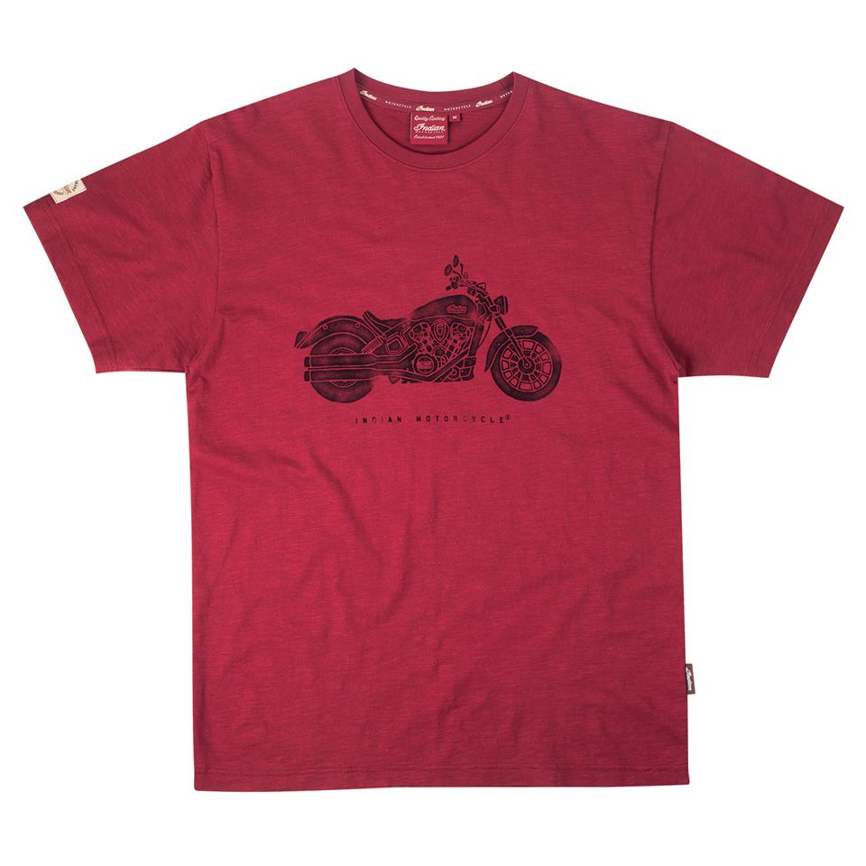Men's Bike Print T-Shirt Red