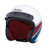 Open Face Helmet - White Stripe - Image 3 of 9
