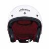 Open Face Helmet - White Stripe - Image 5 of 9