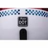 Open Face Helmet - White Stripe - Image 9 of 9