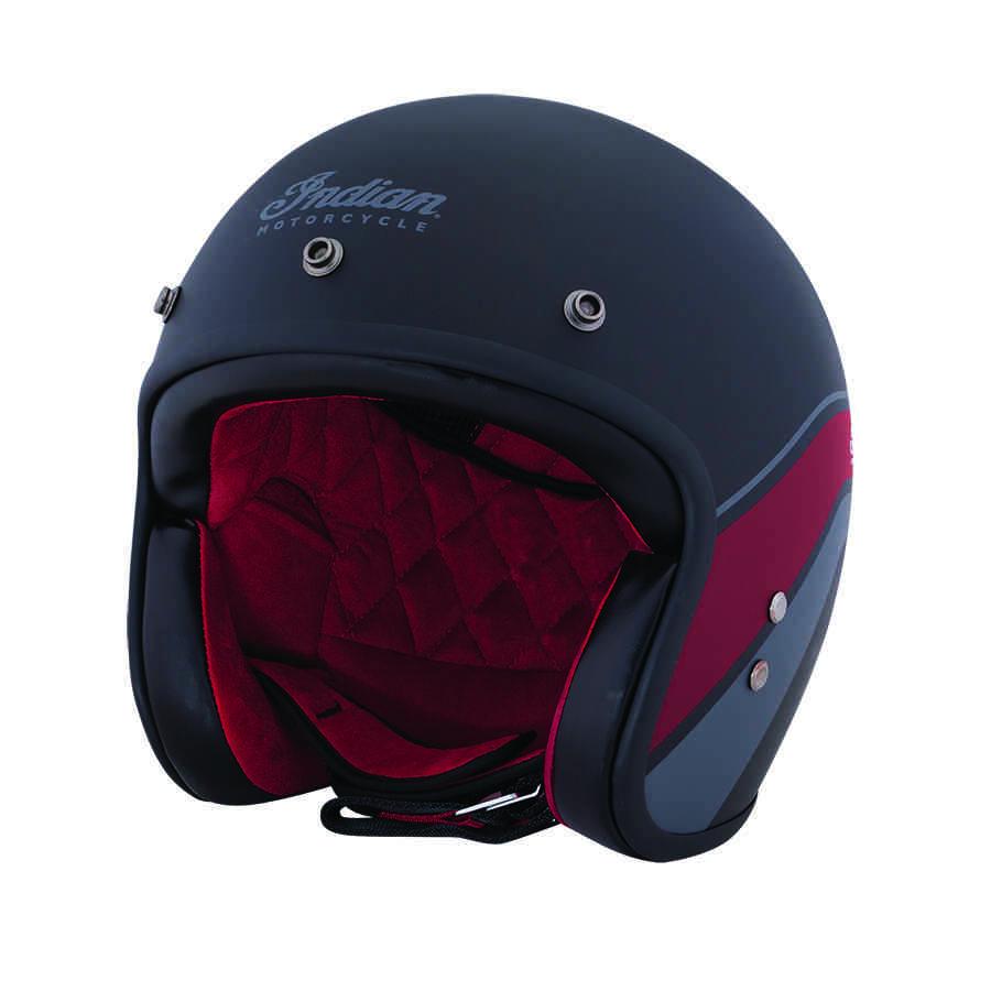 Open Face Helmet - Matte Stripe