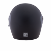 Full Face Retro Helmet with Matte Stripes, Black - Image 3 of 8