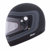 Full Face Retro Helmet with Matte Stripes, Black - Image 2 of 8