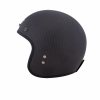 Open Face Carbon Fiber Retro Helmet with Stripes, Black - Image 3 of 9
