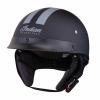 Half Helmet with Gray Stripe, Black - Image 1 of 8