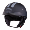 Half Helmet with Gray Stripe, Black - Image 1 of 8