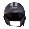 Half Helmet with Gray Stripe, Black - Image 2 of 8