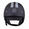 Half Helmet with Gray Stripe, Black - Image 4 of 8