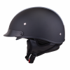 Half Helmet with Gray Stripe, Black - Image 3 of 8