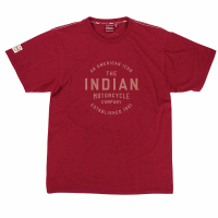 Men's Icon Round Logo T-Shirt, Marl Red