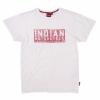 Men's Red Block Logo T-Shirt, White - Image 1 of 2