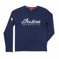 Men's Long-Sleeve Script Logo T-Shirt, Navy