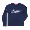 Men's Long-Sleeve Script Logo T-Shirt, Navy - Image 1 of 2