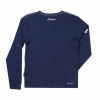 Men's Long-Sleeve Script Logo T-Shirt, Navy - Image 2 of 2