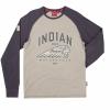 Men's Long-Sleeve Raglan T-Shirt with Headdress Logo, Gray/Charcoal - Image 1 of 2