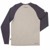 Men's Long-Sleeve Raglan T-Shirt with Headdress Logo, Gray/Charcoal - Image 2 of 2