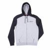 Men's Full-Zip Hoodie Sweatshirt with Icon Logo, Black/Gray - Image 1 de 2